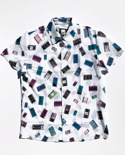 Short Sleeve Button Down Shirt with 35mm Cinema Confetti #1