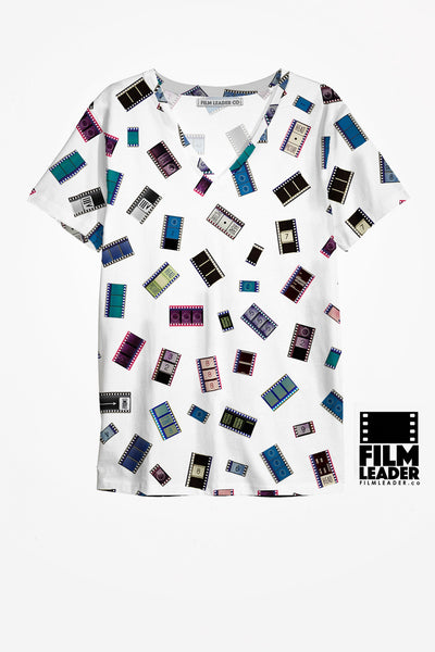 V Neck T Shirt with 35mm Cinema Confetti #1