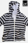 Zip Hoodies with B&W 35mm Countdown Stripes on White