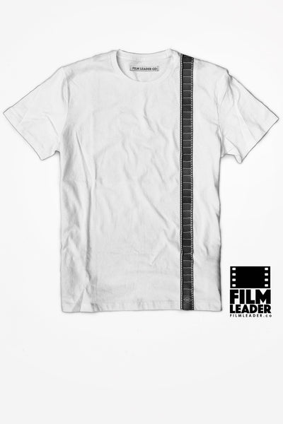Crew Neck T Shirt with 35mm Single Strip #1 (Vertical)