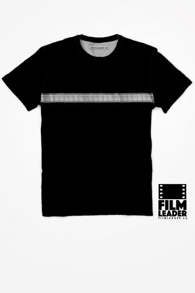 Crew Neck T Shirt with 35mm Single Stripe #1 (Horizontal Negative)