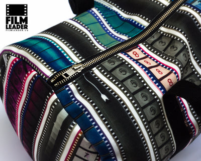 Duffle Bag with Multicolored 35mm Film Leaders