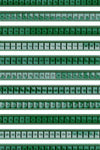 LAB: Bandana with Green 35mm Countdown Stripes on White