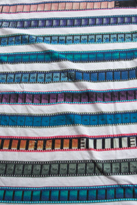 V Neck T Shirt with Multicolored 35mm Leader Stripe Pattern #2