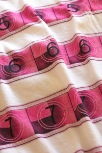 Crew Neck T Shirt with Pink 15/70mm Countdown Stripes