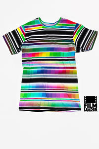Crew Neck T Shirt with Prismatic #1 35mm Film Strips