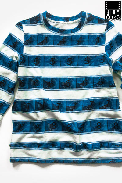 Classic Sweatshirt with Blue IMAX 15/70mm Countdown Wide Stripe on White