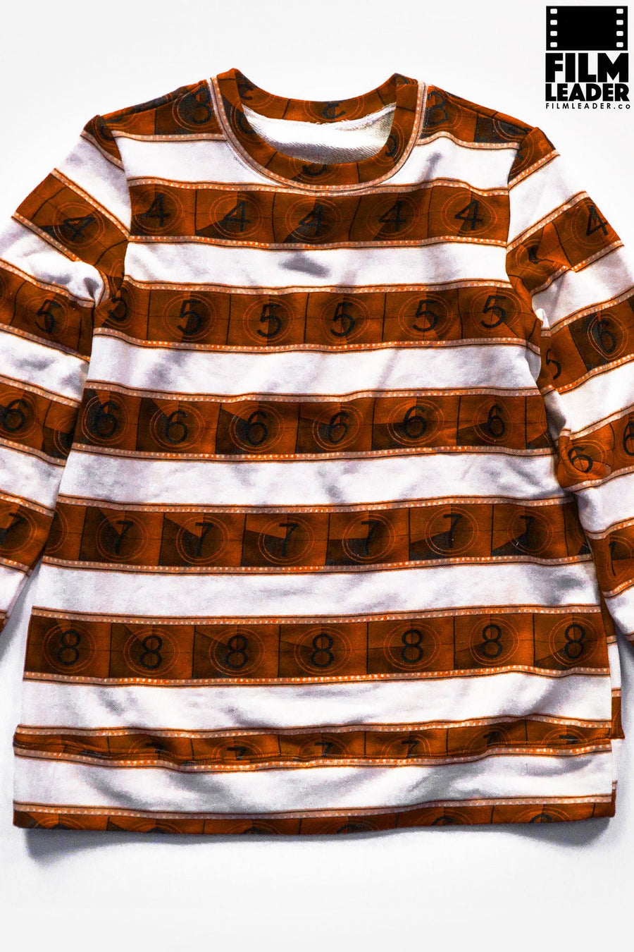 Classic Sweatshirt with Sepia IMAX 15/70mm Countdown Wide Stripe on White