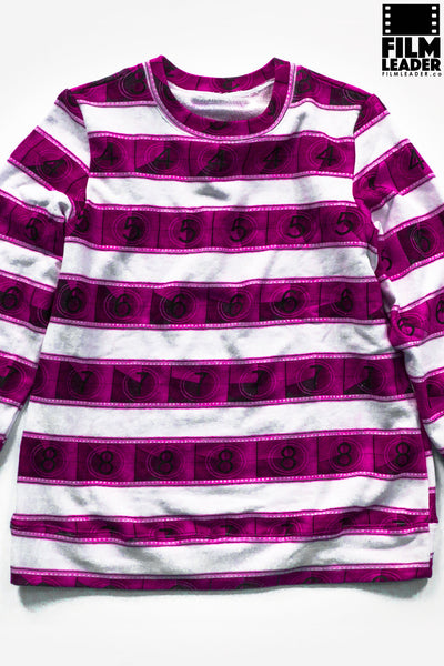 Classic Sweatshirt with Purple Magenta IMAX 15/70mm Countdown Wide Stripe on White