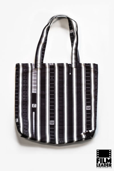 Canvas Tote with 35mm Vertical Leader Mix (Dark on White)