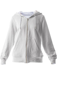 LAB: Zip Hoodies with B&W 35mm Leader Stripes on White (Pattern #2, Light Grey Stripes)