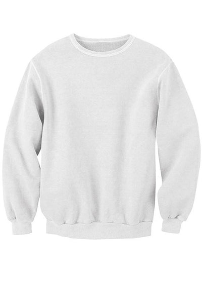 LAB: Classic Sweatshirt with Vertical 35mm Blue Foot Leader on White (Narrow Stripe)