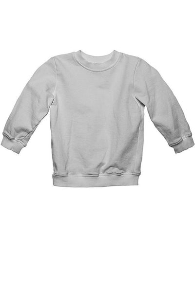 LAB: Kids Sweatshirt with B&W 35mm Leader Stripes on White (Pattern #3, Mid Grey Stripes)
