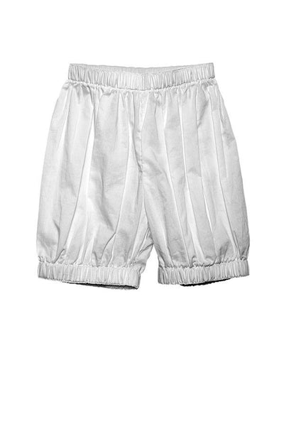 LAB: Kids Bloomers with Vertical 35mm Blue Foot Leader on White (Narrow Stripe)