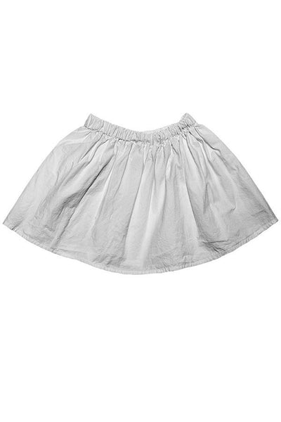 LAB: Kids Full Skirt with B&W 35mm Leader Stripes on White (Pattern #3, Mid Grey Stripes)