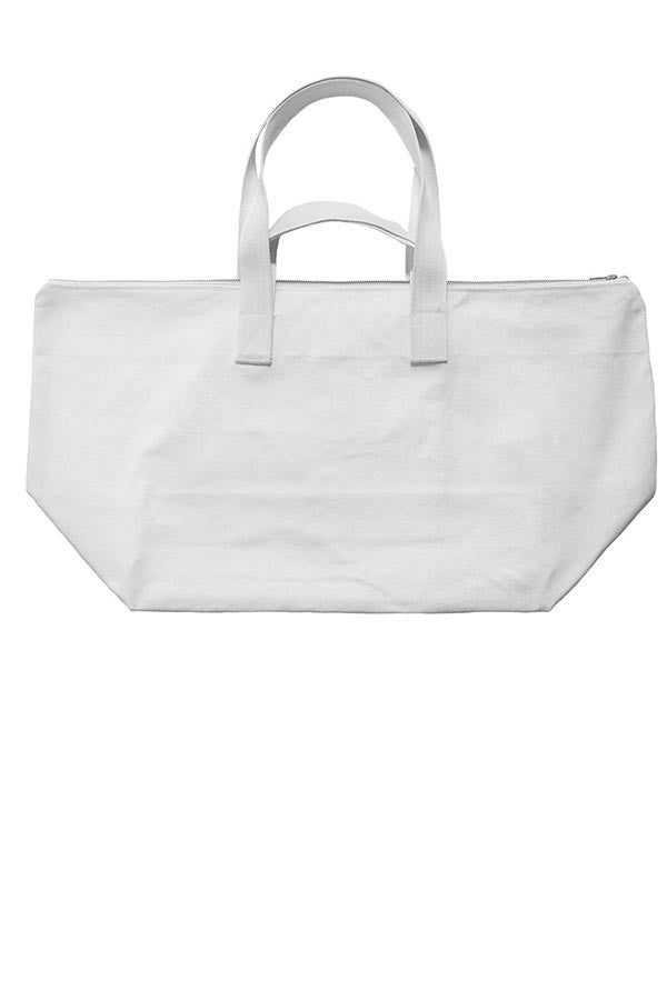 LAB: Weekend Bag with Vertical 35mm B&W Leader Mix on White (Tight Stripe)