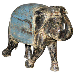 Large Reclaimed Wood Elephant//Grand Éléphant de Bois Recyclé