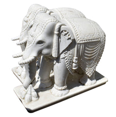 White marble wedding elephant