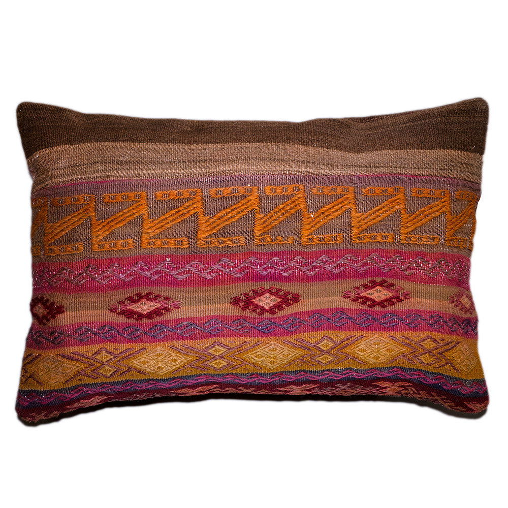 "[[Turkish kilim cushion 16"" x 24""///Coussins kilim turques : 16"" x 24""]]"