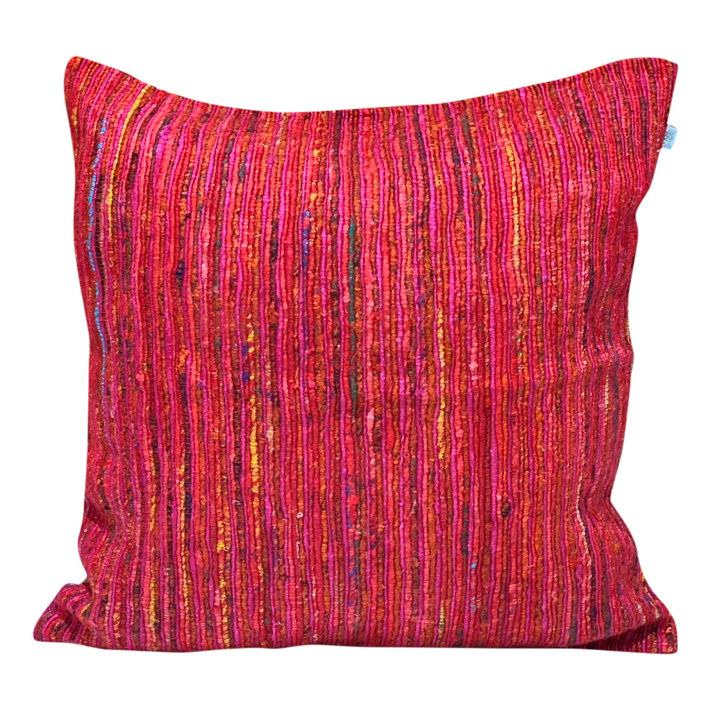 "[[Square cushion: ""fire coral""///Coussin carré : ""fire coral""]]"