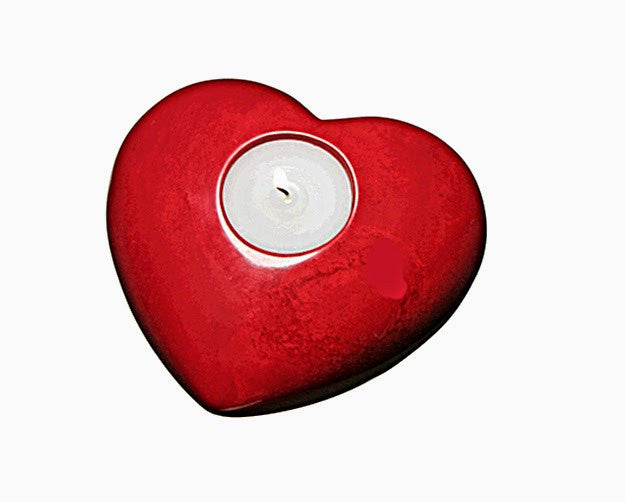 Soapstone Tea Light Heart//Porte-bougies en Pierre de Savon