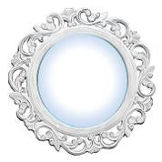 Large Antique White Mirror//Grand Miroir Blanc Antique