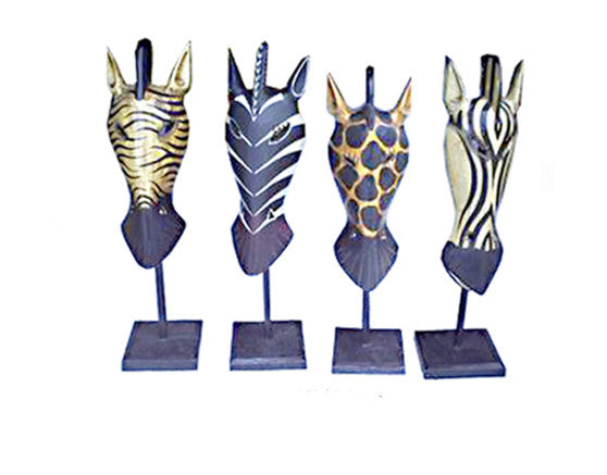Giraffe Masks On Stick//Masque de Girafe sur Poteau