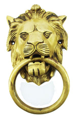 Lion brass door knocker