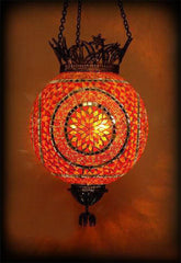 Mosaic Colourful Hanging Lamp//Lampe Colorée Mosaïque Pendante