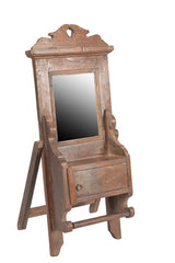 Small Wooden Vintage Mirror on Stand//Petit Mirror Ancien en Bois sur Pied