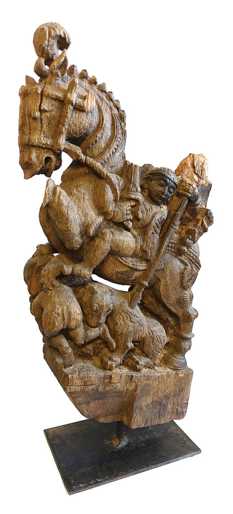 Antique Horse Sculpture on Stand // Sculpture antique de cheval