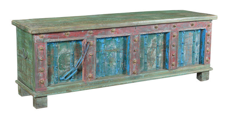 Colorful wooden chest