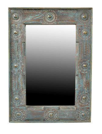 Jodhpur Blue : Decorative Mirror Frame//Jodhpur Blue : Miroir Décoratif