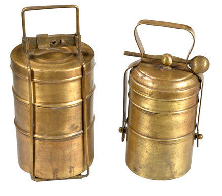 Old Brass Food Container // Contenant de Nourriture en Laiton