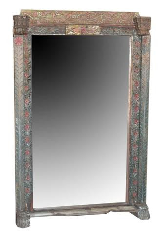 Large Vintage Mirror on Stand//Grand Miroir Vintage sur Pied
