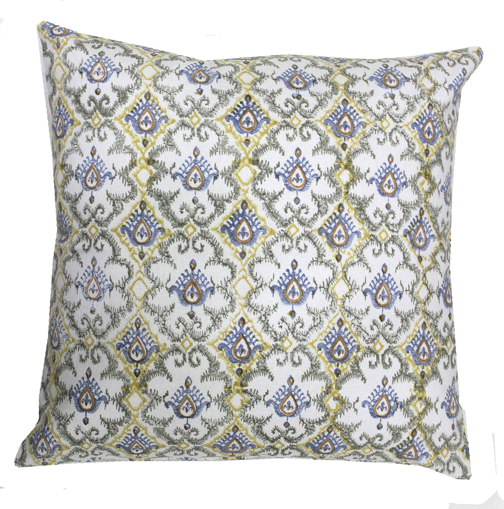 Casablanca: Hand block printed cushion