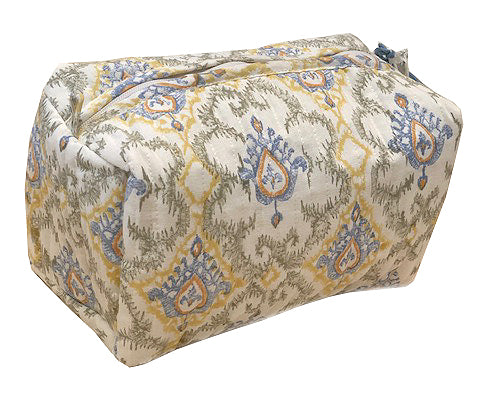 Casablanca: Hand block printed toiletry bag