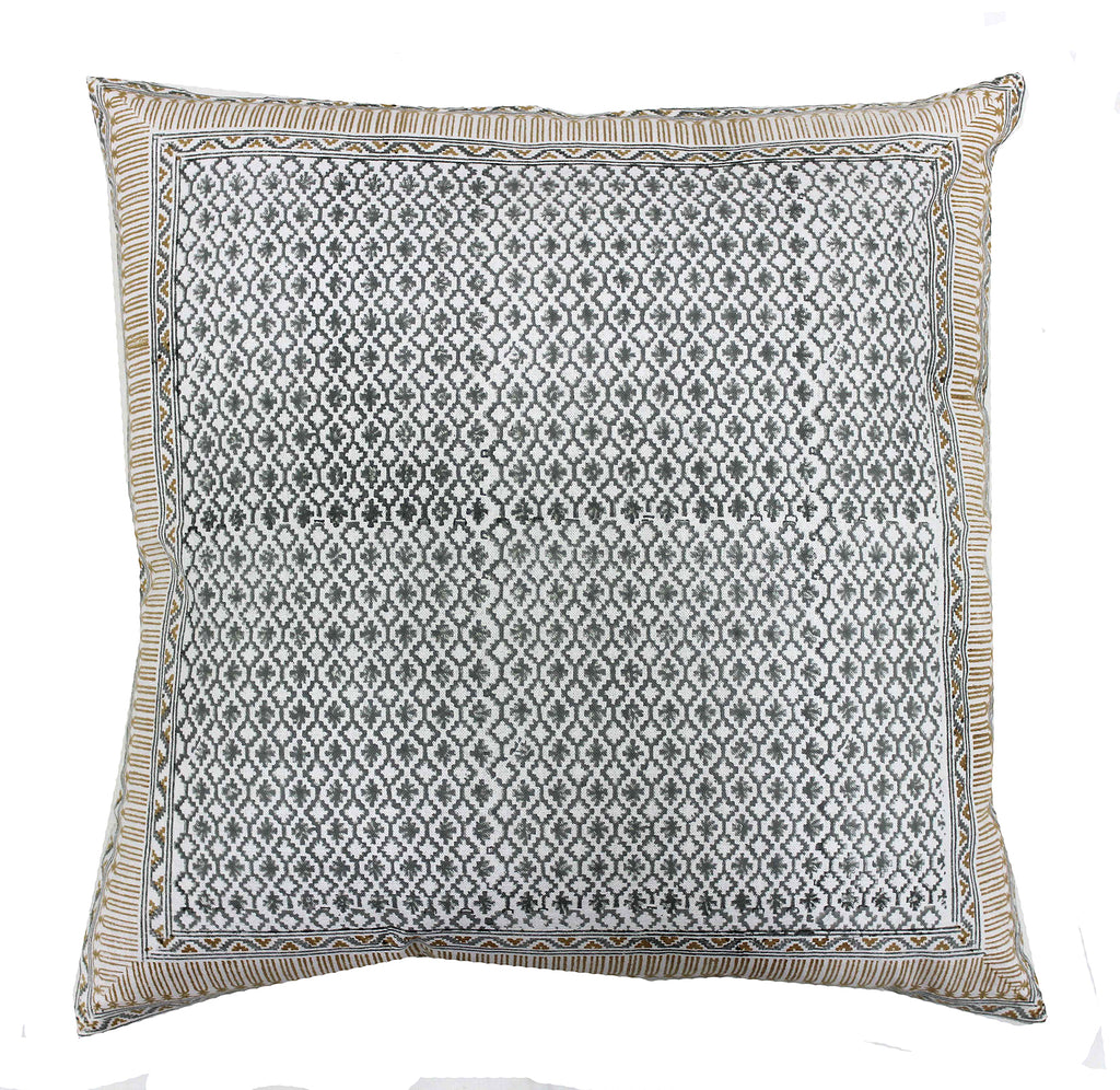 Goa: Hand block printed cushion
