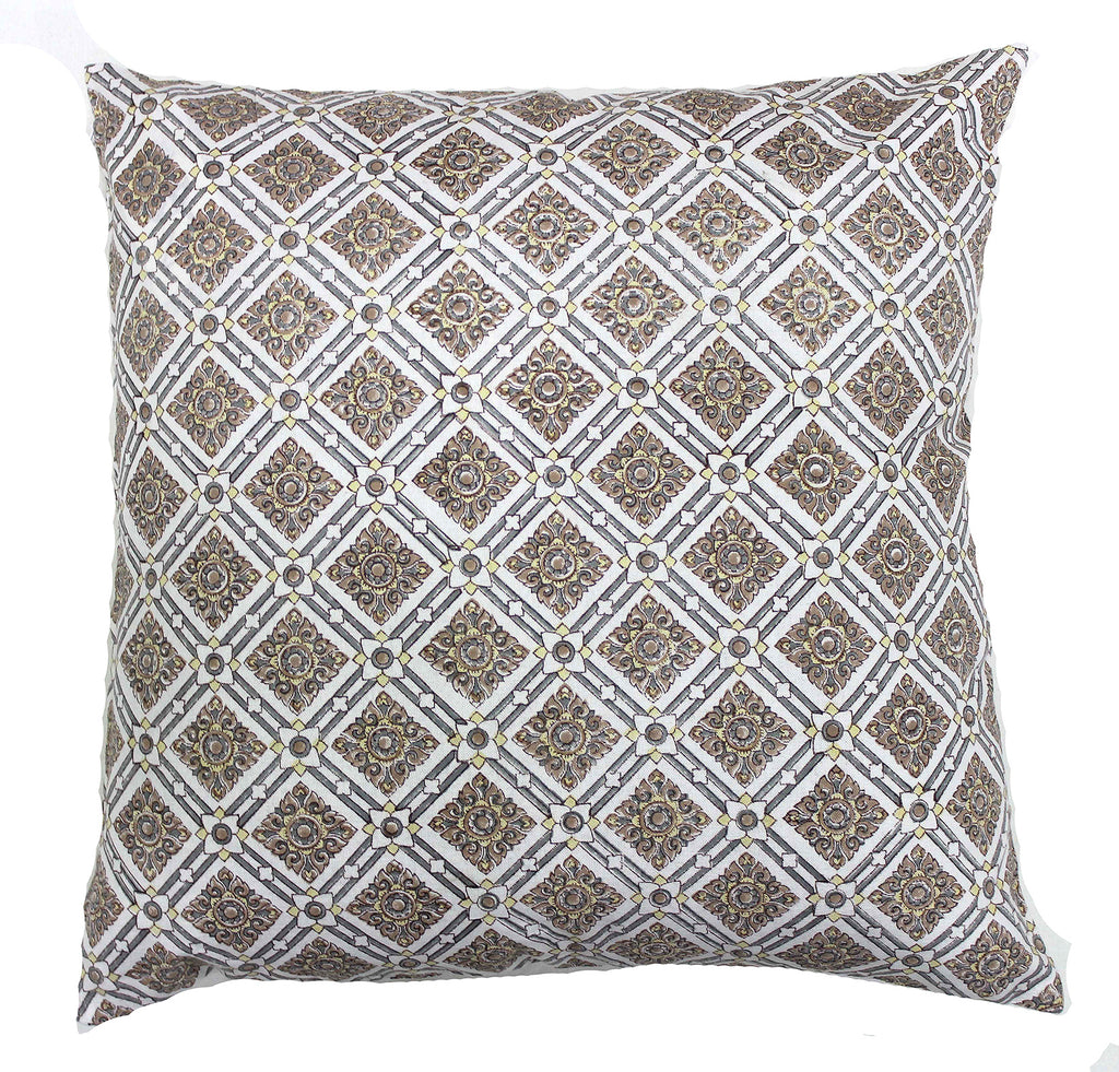 Alexandria: Hand block printed cushion