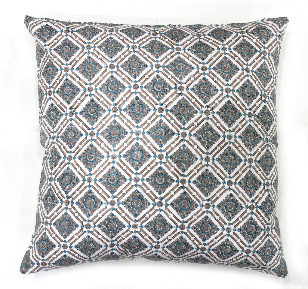 Luxor: Hand block printed cushion