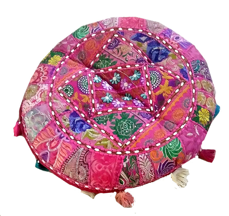 [[Spice of India : Large round floor cushion///Epice de l'Inde : Grand coussin de sol rond]]