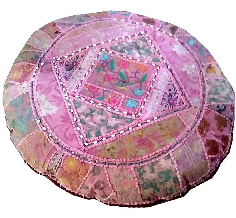 [[Spice of India : XL round floor cushion///Epice de l'Inde : Coussin de sol rond XL]]