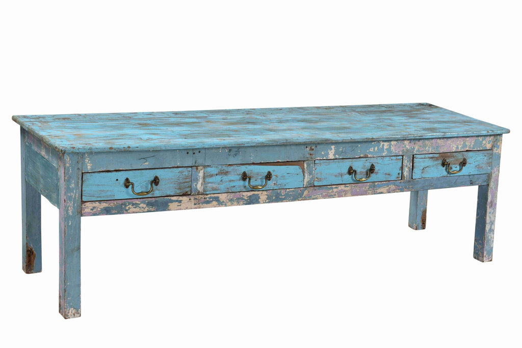 [[Jodhpur blue : Reclaimed wood coffee table or bench///Jodhpur blue : Table basse ou banc en bois recyclé]]