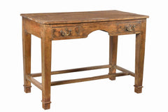[[Old teak wood desk///Bureau en teck ancien]]