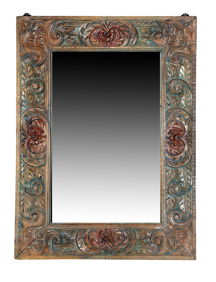 Wonders of the past: Decorative teak mirror frame//Merveilles du passé: Miroir en Bois de Teck Décoratif