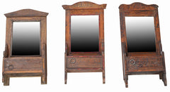 Wonders of the past: Old puja altar mirrors//Merveilles du passé: Ancien miroir puja altar