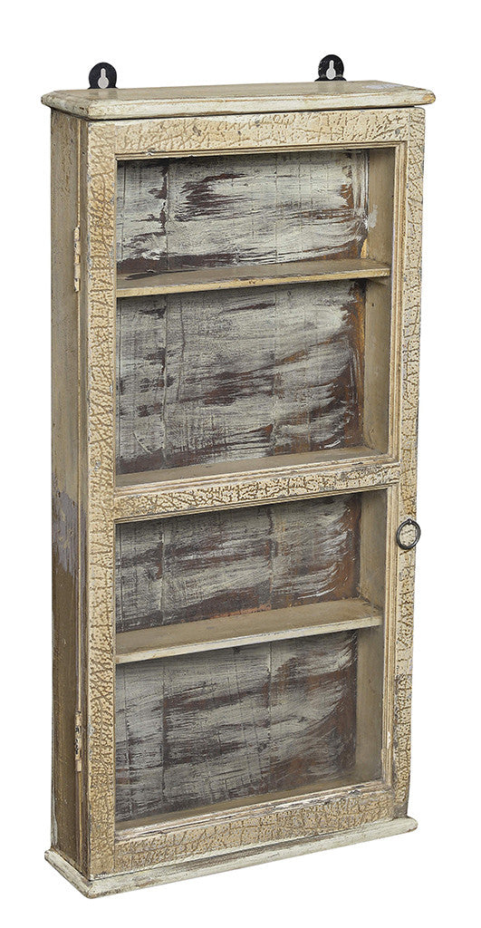 Wonders of the past: Weathered grey display cabinet//Merveilles du passé: Armoire grise