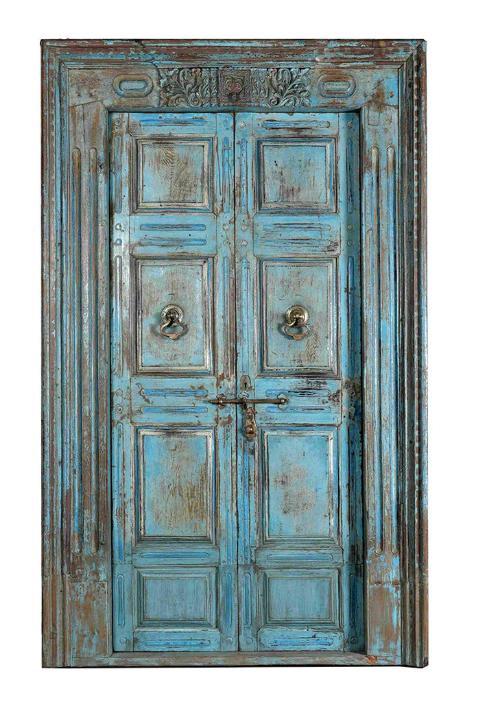 Jodhpur blue: Old Indian door//Jodhpur blue: Ancienne Porte Indienne