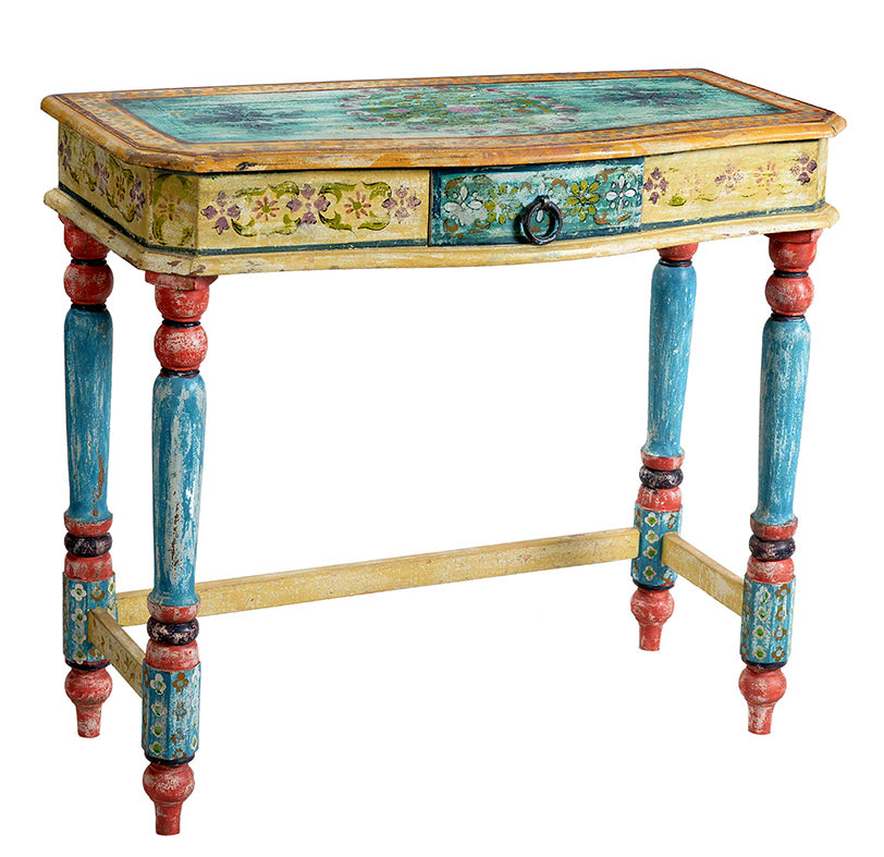 Wooden Painted Console Table//Table d'applique en bois peint