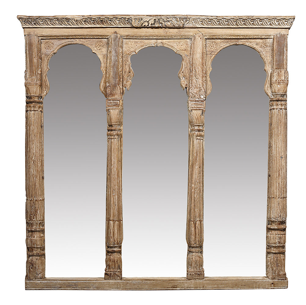 [[Pastel beige frame with 3 mirrors///Cadre beige pastel avec 3 miroirs]]